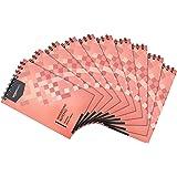 Amazon Basics Lot de 10blocs-notes lignés Reliure portrait à spirales 300pages 125x 200mm