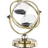 ساعة رملية من SuLiao ساعة رملية 60 دقيقة ، ساعة رملية سوداء عتيقة ، Vintage Reloj De ارينا 1 Hora ، ساعة رملية معدنية 60 دقيق