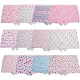 Anntry Kids 12 Pack Soft Comfort Cotton Knickers Underwear Little Girls Assorted Boyshort Panties 2-12 Yrs