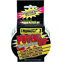 Everbuild 2POWERGRIP50-EBD Mammoth Powerful Grip Tape, Reinforced Double Sided Tape, Clear, 50 mm x 2.5 m