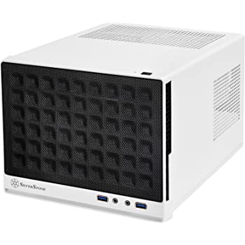 SilverStone Technology Mini-DTX, Mini-ITX Small Form Factor Computer Case SG13WB Black/White