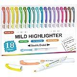 Shuttle Art 18 Surligneurs Pastels, pour Marquage ou Coloriage, Surligneurs à Double Pointe, Idéal pour Enfants et Adultes, 1