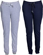 VIMAL Women's Cotton Blend Track Pants - Pack of 2