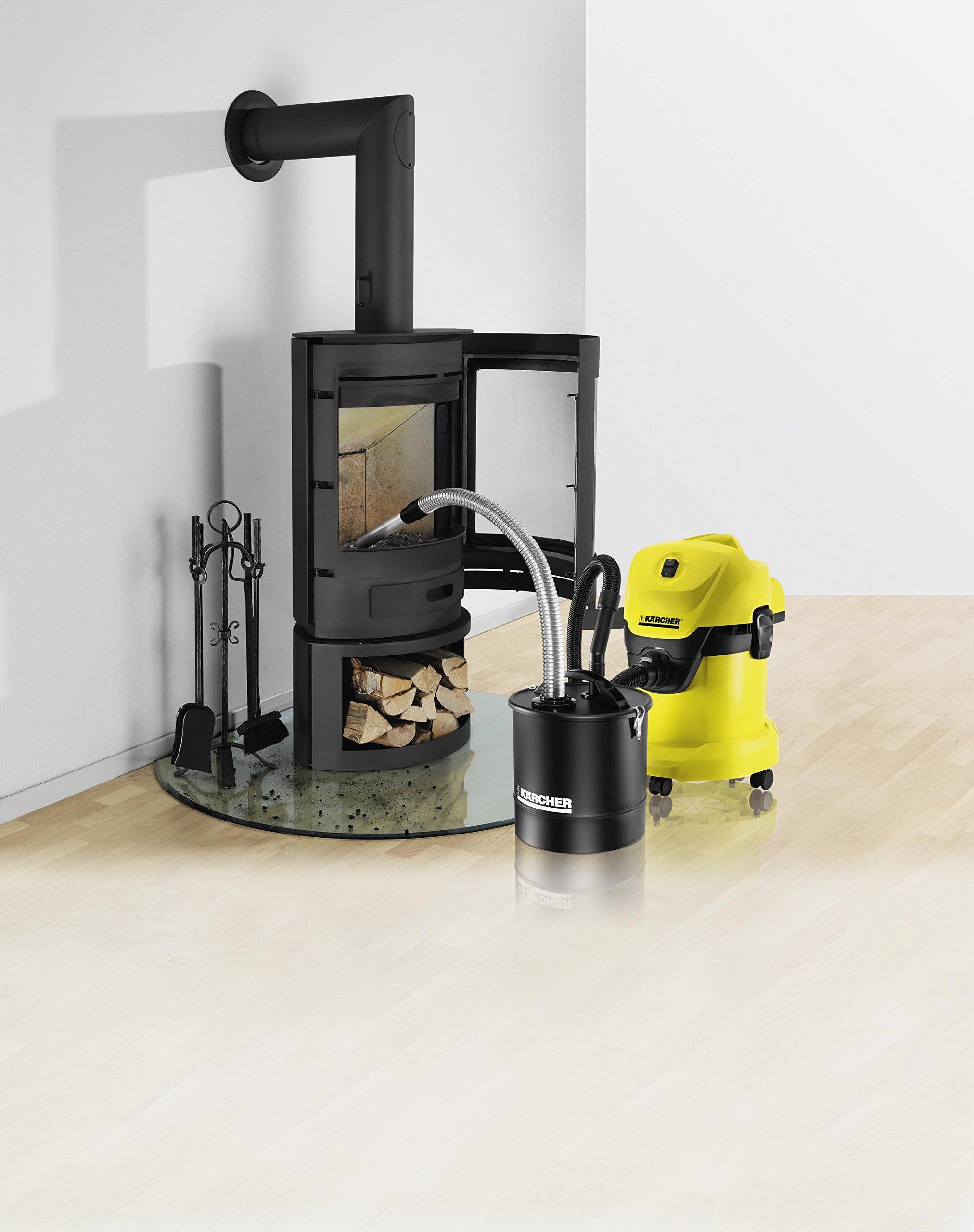 Kärcher Mehrzwecksauger WD 3 Fireplace Kit (Behältergröße: 17 l, Tatsächliche Saugleistung: 200 Air Watt, Aschefilter…