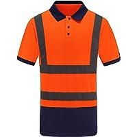 AYKRM Polo Tecnica da Lavoro Maglietta Alta visibilità Fluo