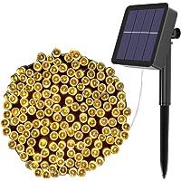 Solar Fairy Lights Outdoor, Kolpop 12M/39ft 240 LED Solar Powered Garden Lights Outside 8 Modes Waterproof Solar String…
