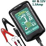 InThoor Chargeur de Batterie pour Voiture 6/12 V 1.5A, Mainteneur De Batterie, Chargeur de batterie pour auto camion moto