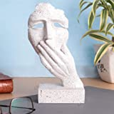zart Resin New Men Face with Hand on his Mouth Showpiece, Standard, Multicolour