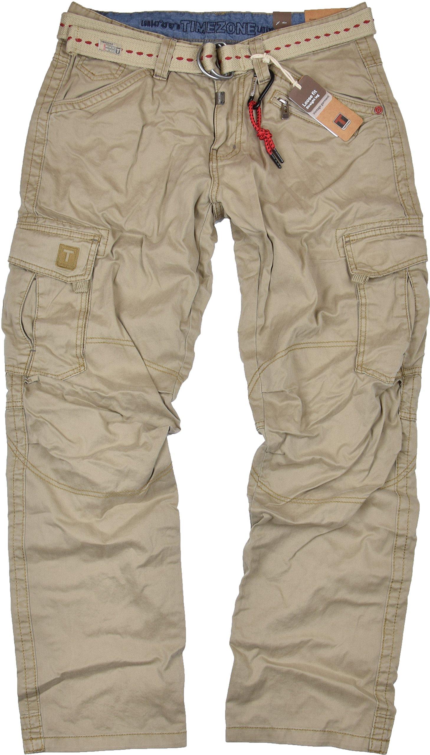 Timezone Herren Cargo Jeans Hose Benito TZ 3387 Scrub Blue