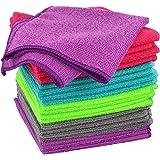 COM-FOUR® 20x microvezeldoek, schoonmaakdoek voor huishoudelijk, auto, pc en mobiele telefoon, herbruikbare schoonmaakdoekjes