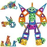 Condis Construcciones Magneticas Niños 114 Piezas Bloques de Construcción Magnéticos Juegos Magneticos Imanes Juguetes Niños
