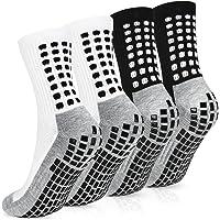 Emooqi Men's Anti-slip Sports Socks, Breathable Athletic Rubber Grip Socks, Football Basketball Baseball Socks