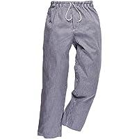 Portwest Pantaloni Bromleys Chef, Taglia Alta, Colore: Blu/Bianco, Taglia: XXXL, C079CHTXXXL