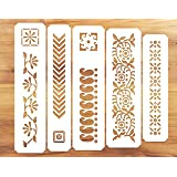 WallDesign Indian Border Paint Plastic Stencil (9.5 x 2 Inches)