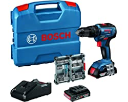 Bosch Professional 18V System accuschroefklopboormachine GSB 18V-55 (max. draaimoment 55 Nm, incl. 2x 2,0 Ah accu + oplader,