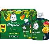 Gerber Organic Puree Mango Baby Food, 5 x 90 gm