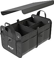 ATHLON TOOLS Premium Kofferraumtasche mit Deckel | Extra stabile & wasserfeste Böden | XXL Kofferraum-Organizer mit vielen Fä