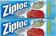 Ziploc Freezer Bags, Pint Size - 20 ct - 2 pk