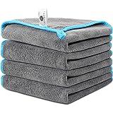 Faireach Chiffon Microfibre Voiture Lot de 4, Chiffon de Nettoyage Polissage Séchage pour l'Entretien de la Voiture en Tissu