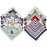 Comius Sharp 12 Pack Sciarpa in Raso Donna Foulard Quadrato Sciarpa di Seta Piccolo Sciarpa Quadrato Raso Fazzoletto (50 x 50