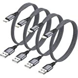 iPhone oplaadkabel RAVIAD Lightning kabel 4Pack 1.2M iPhone Charger Cable Nylon Fast Charger Lightning Cable Compatibel met i