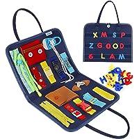 Esjay Busy Board pour Enfants, Jeux Montessori pour Apprendre La Motricité Fine, Tableau Sensoriel Éducatif avec des…