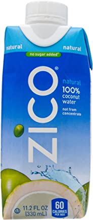 ZICO Natural Coconut Water, 11.2 Fl oz Bottle