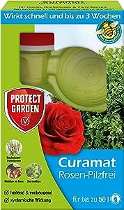 PROTECT GARDEN Curamat Rosen-Pilzfrei (ehem. Bayer Garten Baymat), Mittel gegen Pilzkrankheiten an Rosen und Zierpflanzen sowie gegen Buchsbaumtriebssterben, 200 ml