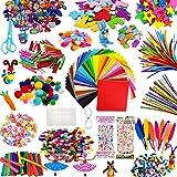 TOLOYE Bricolage Artisanat Kits, Fil Chenille Pompon Bâtons d'artisanat de Bricolage Activites manuelles pour Enfant DIY Joue