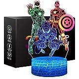 Lampe de nuit Spiderman pour enfants, ONXE, illusion 3D, contrôle tactile, couleurs dynamiques, changeant avec 3 motifs, joue