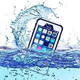 wasserdichte handyhülle, dizauL ®2015 neue Version ultra leicht dünn völlig geschlossene Waterproof Staubdicht Schneedicht Stoßfest shockproof Case Hülle Schutzhülle für iphone 6 plus (passt nicht für iphone 6 ),weiß