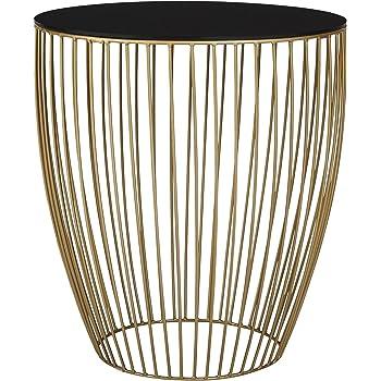 0ec5ac825ac2 Tesco NEW Antique Brass Effect Metallic Wire Frame Side Table - Black