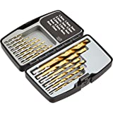 AmazonBasics High Speed Steel Drill Set for Metal, Wood, & Plastic, 14 Pieces, 1.5 - 10mm
