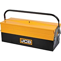 JCB Tools 5 Tray Cantilever Tool Box, Steel Construction with Lockable Latches and Heavy Duty Carry Handle, 541x213x221…