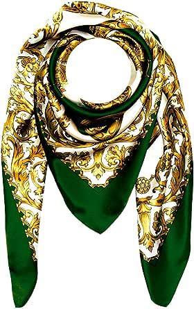 Lorenzo Cana - Lussuoso foulard da donna di seta con lavorazione a stampa, 100% seta, 100x 100cm, colori armoniosi