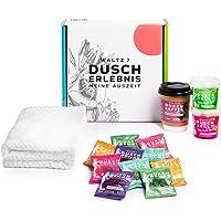 WALTZ7 Wellness Geschenkset, Entspannung mit Duschbomben Duschkaffee, Handtuch und Duschjelly, Partner Geschenk für…