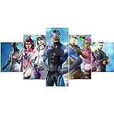 fortnite poster 5 Stuk Cool Game Rollen Creatieve Video Game Canvas Muur Art Unframed voor Home Wall Decor