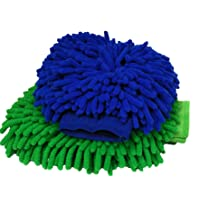 SOBBY Microfiber Car Wash and Dust Chenille Mitt Cleaning Gloves Sponge (Double Sided, Extra Large, Premium Quality Big Car wash Mitt glove) (2)