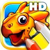 Colorare i libri per i più piccoli HD - Colorize dinosauri del Giurassico e animali dell'età della pietra