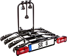 BULLWING SR8 Fahrradträger für Anhängerkupplung für 4 Räder mit Schnellverschluss, Abklappmechanismus, Diebstahlschutz, Nutzlast: 60 kg