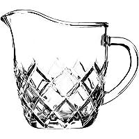 KADAX Pot à lait en verre avec poignée, pichet à crème, pichet en verre pour lait, crème, sauce, café, facile à nettoyer…
