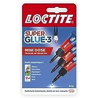 Loctite Super Glue-3 Mini dose, colle extra forte pour réparations qualité, colle forte & rapide tous matériaux, colle…