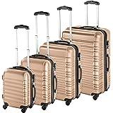 TecTake Set de 4 valises de Voyage de ABS avec Serrure à Combinaison intégrée   poignée télescopique   roulettes 360° - diver