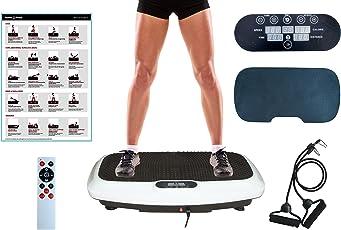 2018 PRODUKT | Vibrationsplatte | von PowerVBoard | Starke Vibrationstechnologie | Extra große Fläche | Elegantes Design | Trainingsbänder | Fernbedienung | Übung Poster | Komfortmatte