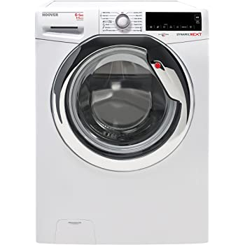 Hoover WDXA42 365-S washer dryer - washer dryers (Front-load, Freestanding, Chrome, White, Left, A, B)