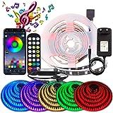 BIHRTC 1M LED Streifen RGB 5050 APP Musikalische LED Strip LED Lichtband Musikalische Funktion LED Band Lichterkette Strip Li