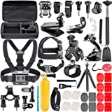 TryAce 58-In-1 Action Camera Accessory Kit for GoPro Hero 7 6 5 4 3 Session, DJI OSMO Action SJ4000/5000, Nikon and Sony Spor