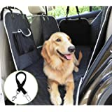 Pecute Dog Car Seat Cover 100% Waterproof, Rear Seat Covers for Dogs with Mesh Window/Side Flaps/Storage Bags, Dog Car…