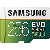 Samsung EVO Select 256 GB microSD 100MB/s, Geschwindigkeit, Full HD & 4K UHD Speicherkarte inkl. SD-Adapter für…