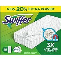 Swiffer Trockene Bodentücher/Bodenwischer mit Febreze-Duft Nachfüllpackung, 2er Pack (2x18 St.)
